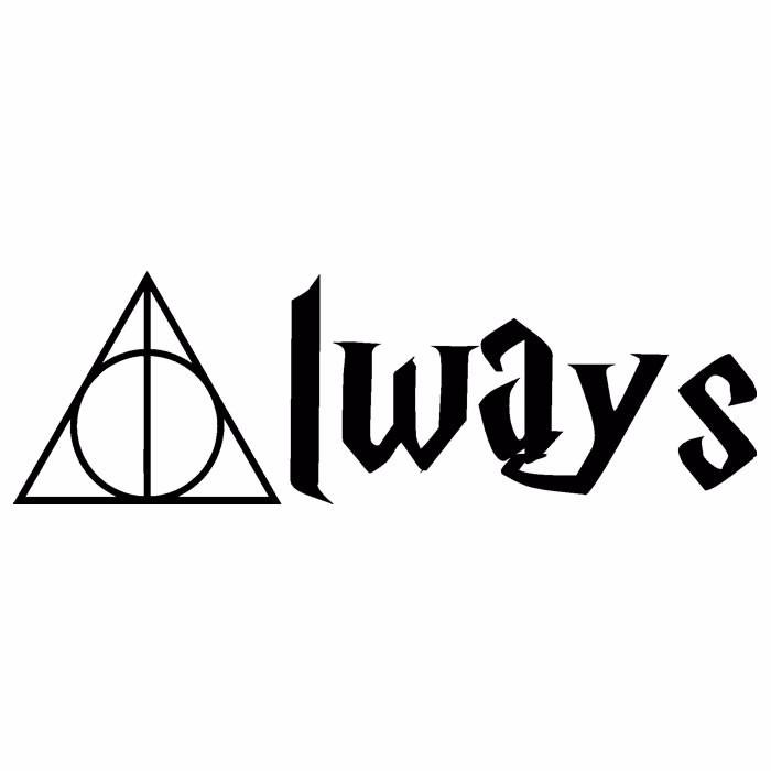 Aparador Estreito Branco ~ Harry Potter Adesivo De Parede Always Relíquias Da Morte