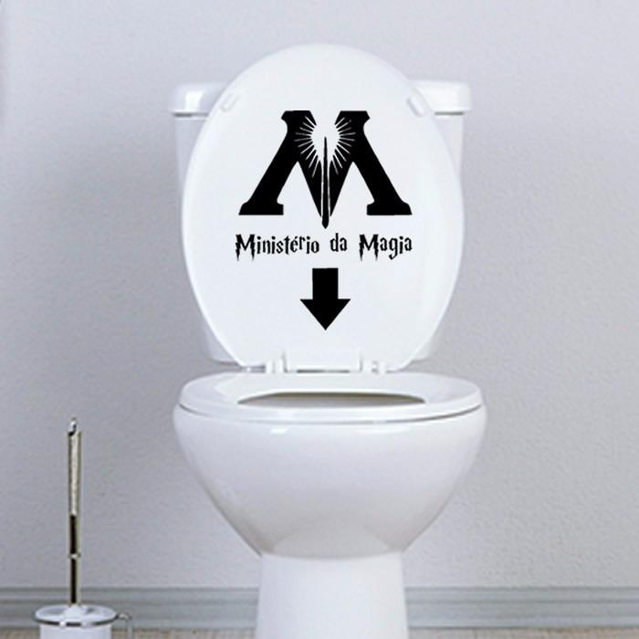 Artesanato De Valença Bahia ~ Harry Potter Adesivo Decorativo Banheiro E Vaso Sanitário