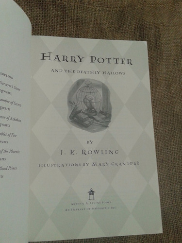 harry potter and the deatly hallows jk rowling tapa dura