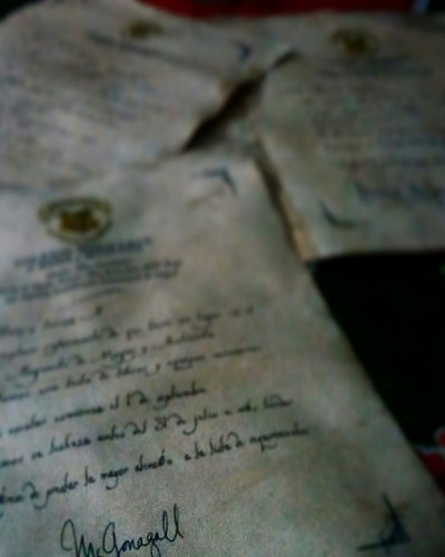 harry potter, carta de aceptacion a hogwarts + boleto+ mapa