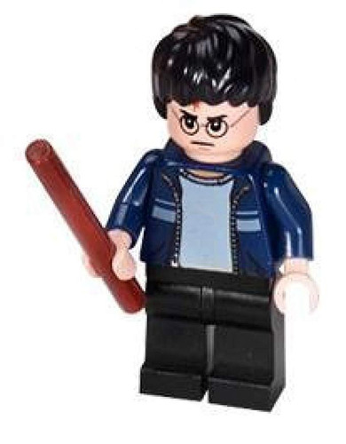 harry potter chaqueta azul + varita lego harry potter minifi