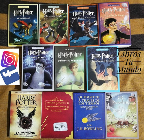 harry potter coleccion de 11 libros j. k. rowling