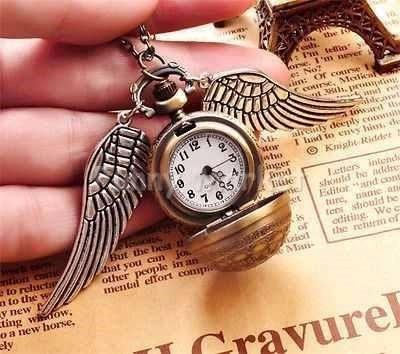 harry potter collar cadena dije reloj snitch dorada regalo