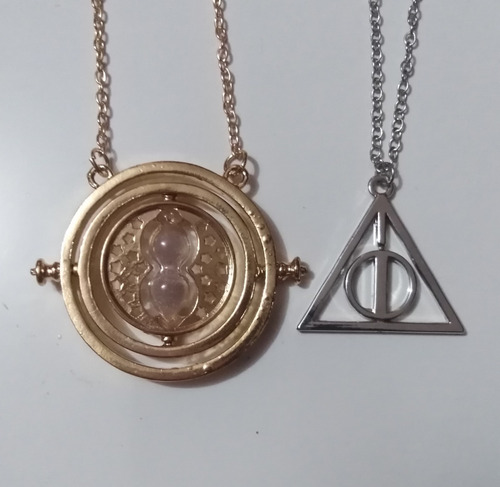 harry potter  collar reliquias muerte +  giratiempo