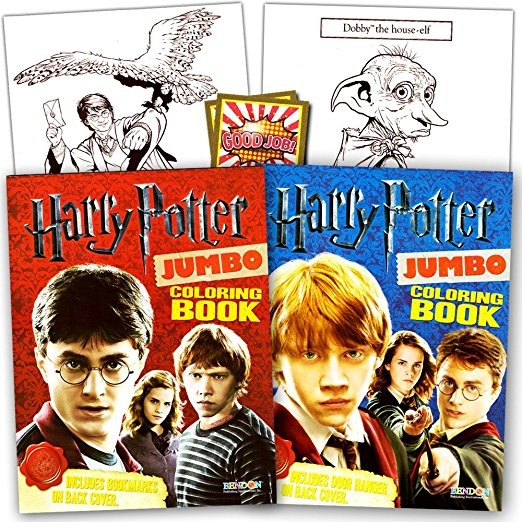 Harry Potter Coloring Book Super Set - 2 Libros Para Colorea ...
