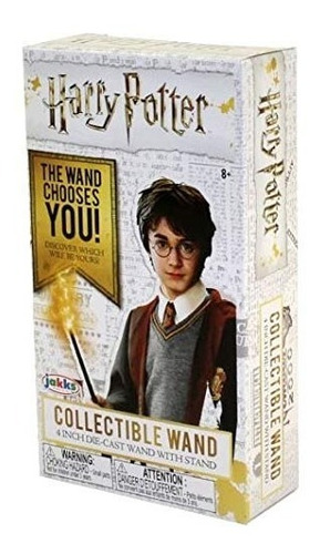 harry potter die cast  varita coleccionable + soporte estor