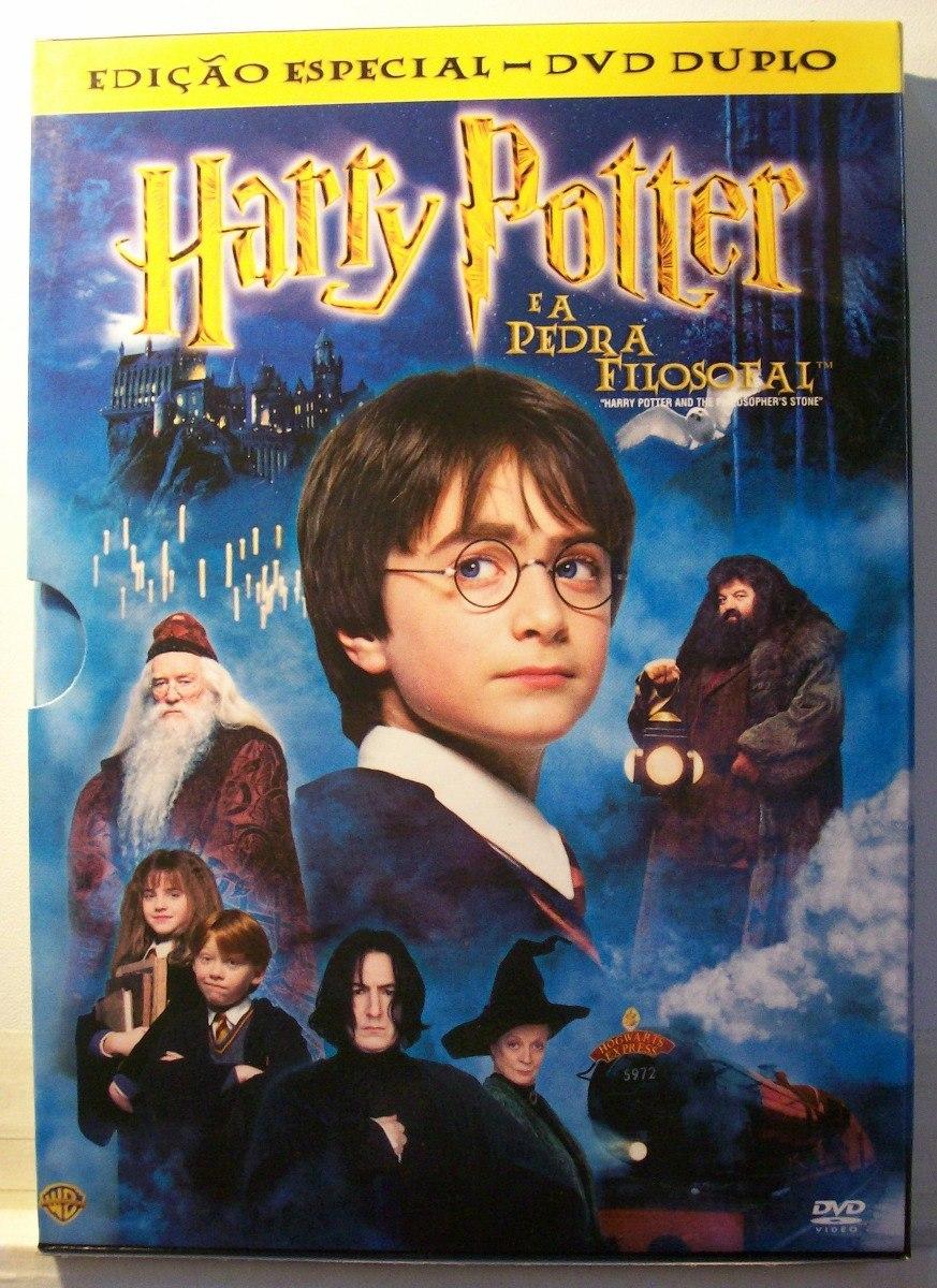 Harry Potter É A Pedra Filosofal with harry potter e a pedra filosofal dvd duplo c/ cards original - r