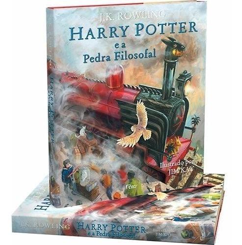 harry potter e a pedra filosofal -edição ilustrada capa dura