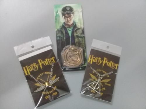 harry potter. gira tiempos + snitch + reliquias de la muerte