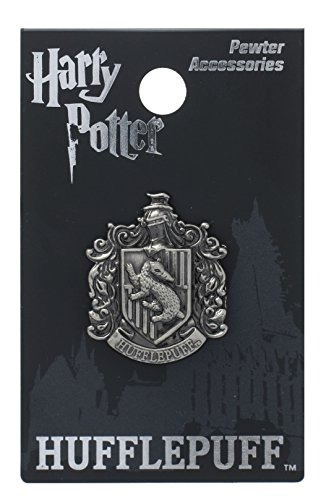 harry potter hufflepuff school crest pewter solapel pin