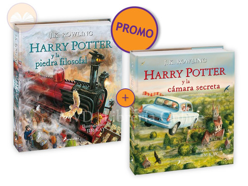 harry potter ilustrado vol. 1 y 2  promo - j.k. rowling