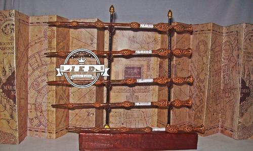 harry potter- varitas de todos los magos + caja de madera