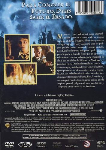 harry potter y el misterio del principe año 6 pelicula dvd