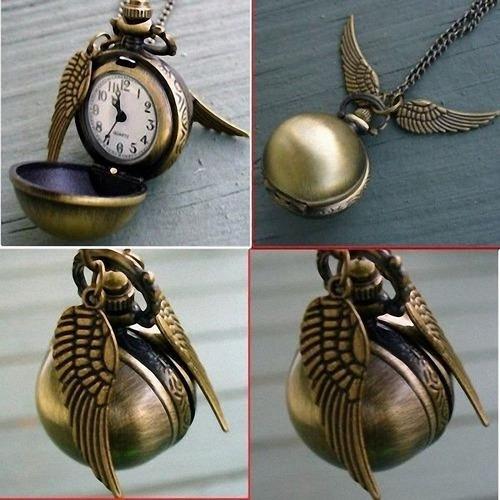 harry potter´s quidditch snitch reloj dije 4 colores disponi