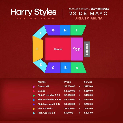 harry styles entradas recital