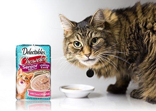 hartz delectables lickable cat treat chowder paquete de 12
