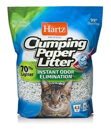 hartz multicat lightweight recycled clumping paper cat liter