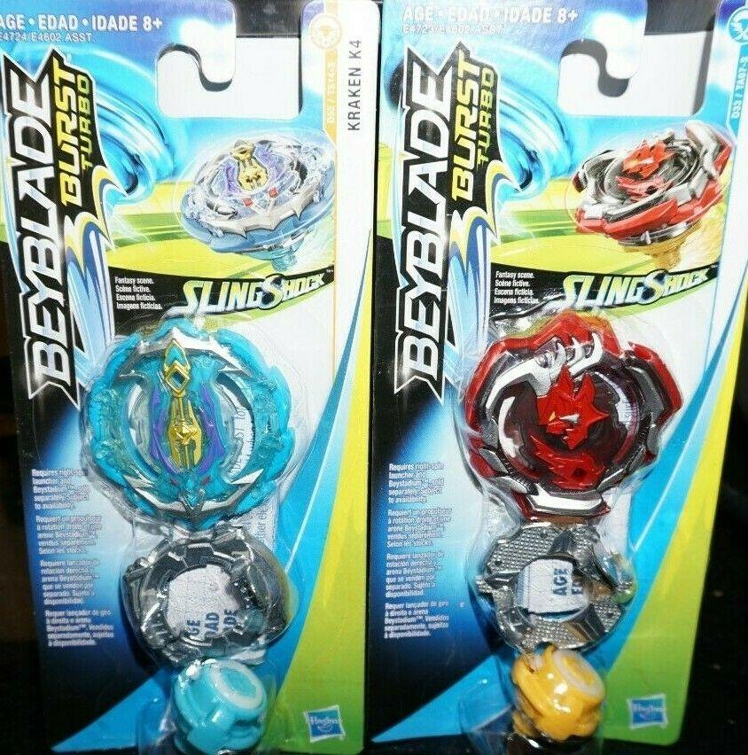 34095c97506 ... Beyblade Burst Turbo Rokdavor: Hasbro Beyblade Burst Turbo Slingshock  Wave 2 Kraken K4