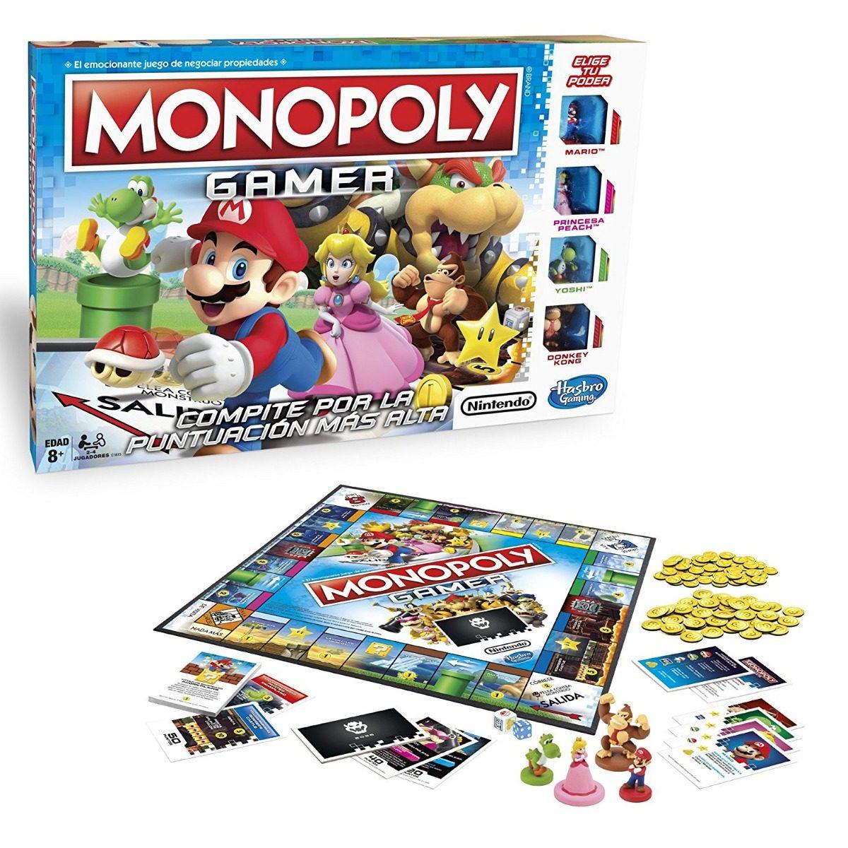 Hasbro Gaming Juego D Mesa Monopoly Gamer Espanol Env Gratis