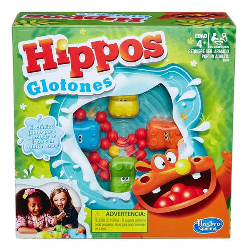 hasbro gaming juego de mesa hippos glotones board game