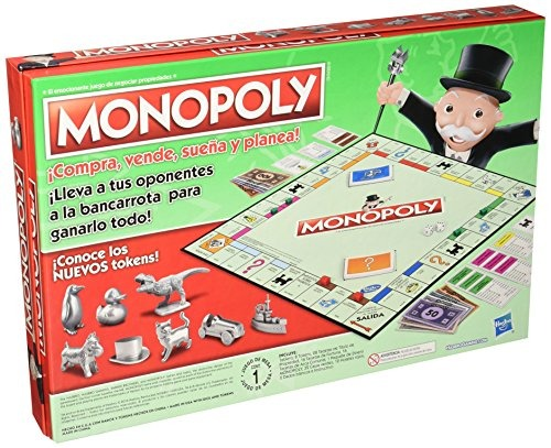 Hasbro Gaming Juego De Mesa Monopoly Clasico 701 00 En Mercado Libre