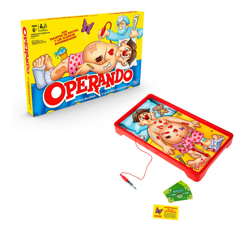hasbro gaming juego de mesa operando clásico