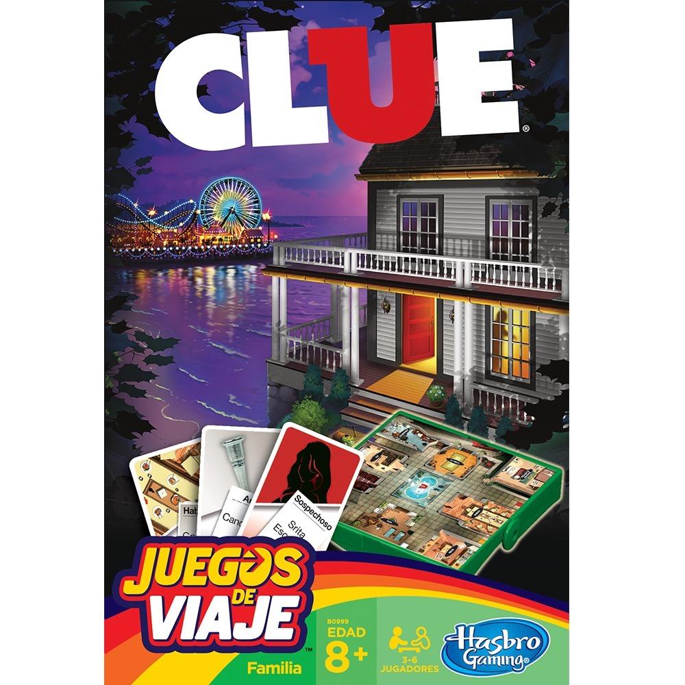 8bd2e2bb6bbd9 Hasbro Gaming Juegos De Viaje Clue Original -   419