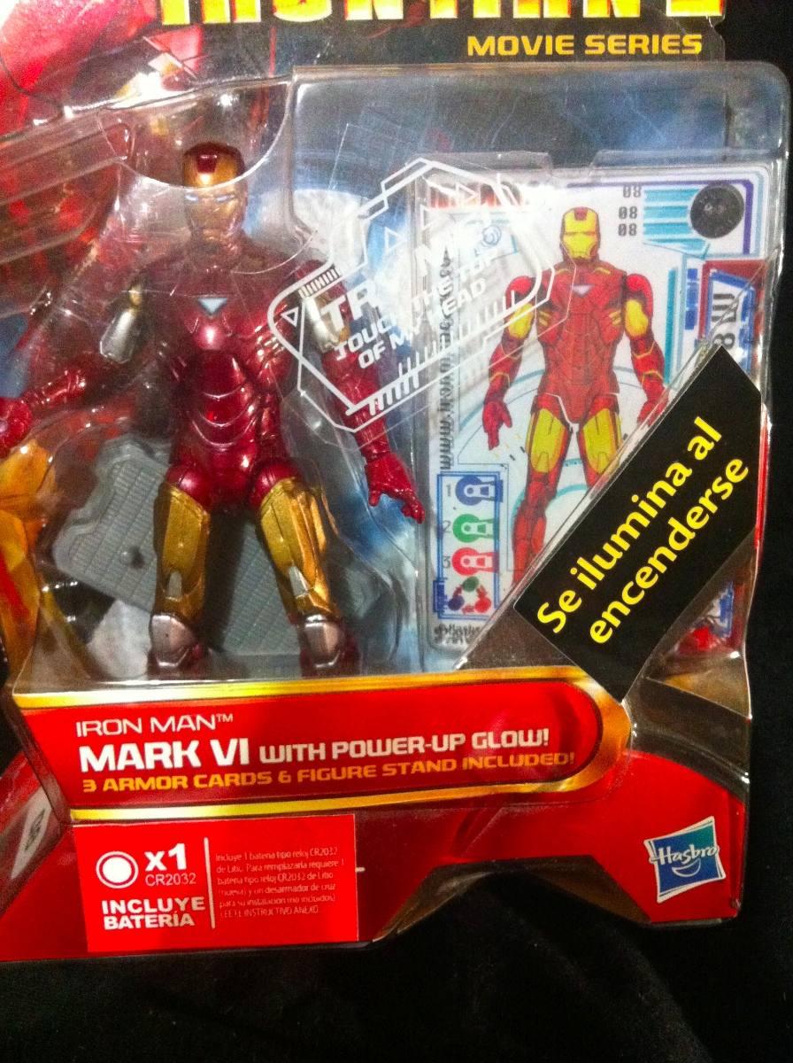 Iron Man 2: Hasbro, Iron Man 2, Iron Man Mark 6 With Power Up Glow