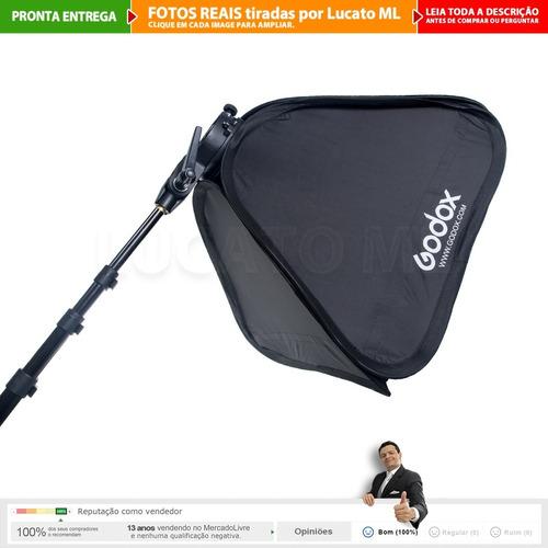 haste boom + suporte stype p/ flash + softbox bowen 50x50 np