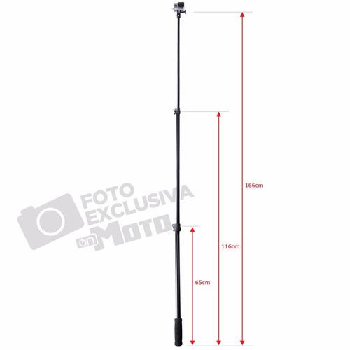 haste teslescopica para gopro (65/116/166cm) - btra50bu