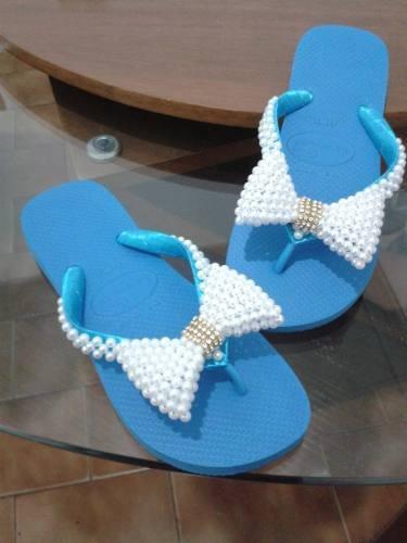 havaianas bordadas customizadas