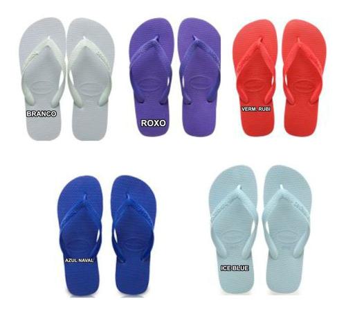 havaianas top sandalia cx 18 pares original chinelo atacado