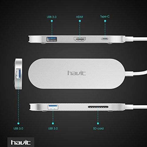 havit usb-c hub, salida hdmi (soporte 4k), 3.1 tipo-c hub co