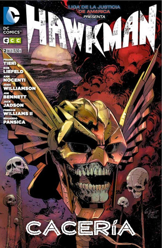 hawkman cacería 1-2 (completo) - dc ecc comics - robot negro
