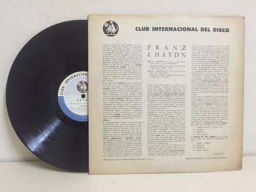 haydn - club internacional del disco. vinilo (longplay - lp)