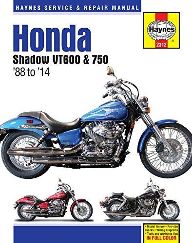 haynes m2312 honda shadow vt600 y vt750 manual de reparación