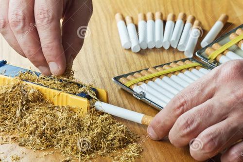 haz tus cigarrillos, 600 tubos listos para fumar tabaco liar