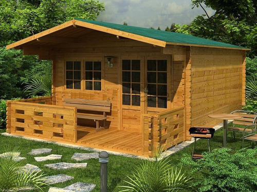 hazlo tu... como fabricar casas de madera cabañas planos....
