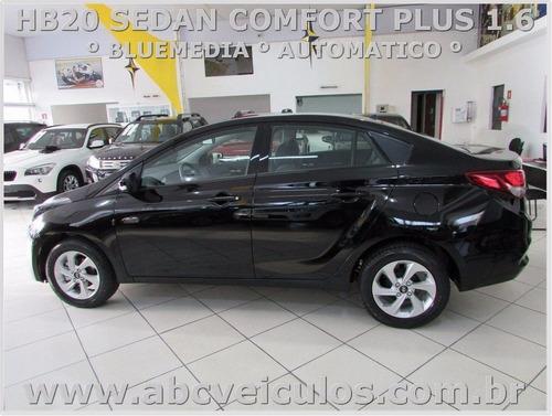 hb20 sedan comfort plus 1.6 automatico - zero km 17/17 d232s