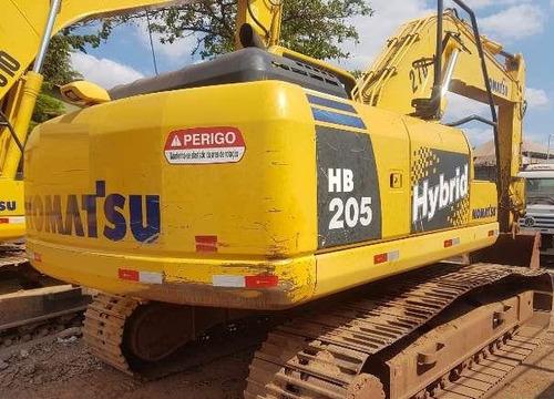 hb205 escavadeira komatsu porte pc200 seminova