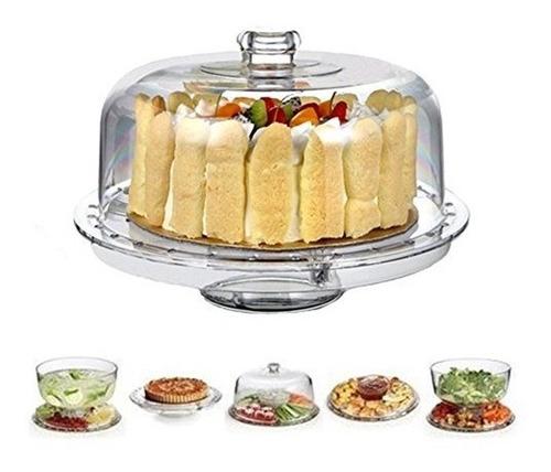 hblife 6in1 soporte de la torta de acrílico plato de porción