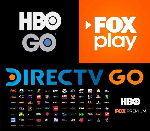hbogo fox play y directv go - streaming