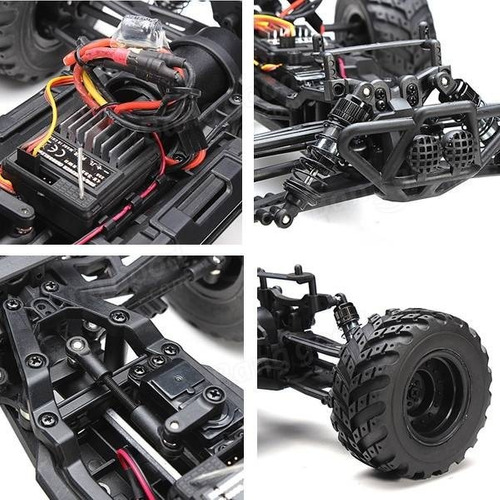 hbx 12813 1/12 2.4g 4x4 brushed rtr coche rc todo terreno