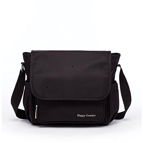 hc bolsa de pañales negro bolsa de crossbody bolsa de pañal