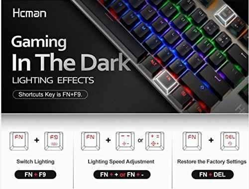 1081a029ae4 Hcman Mechanical Gaming Keyboard Blue Switches,pc Buho Store ...
