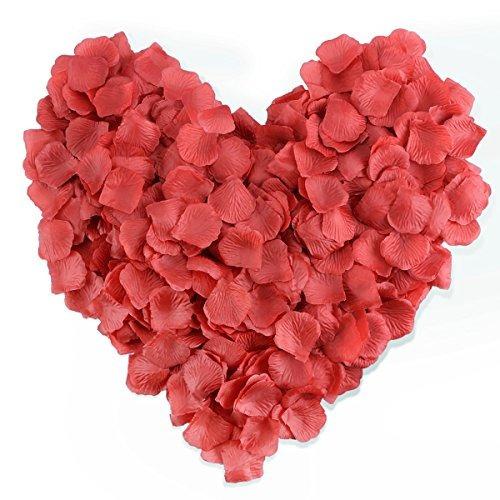 hcstar 1200pcs pétalos de rosa de seda flor artificial fiest