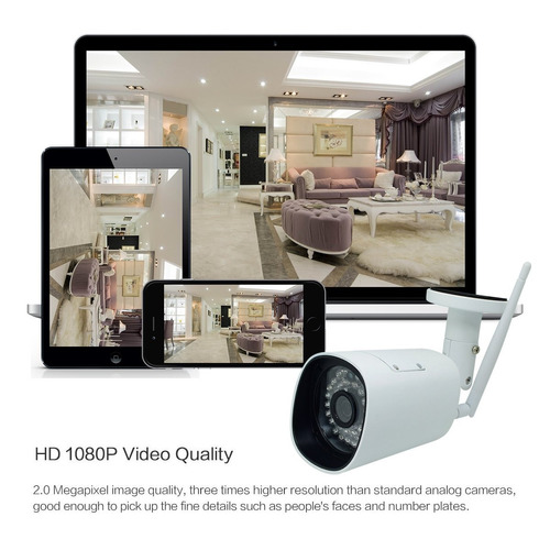hd 1080p wireless wifi security ip cámara ranura para tarjet