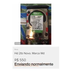 Hd 2tb Novo. Marca Wd