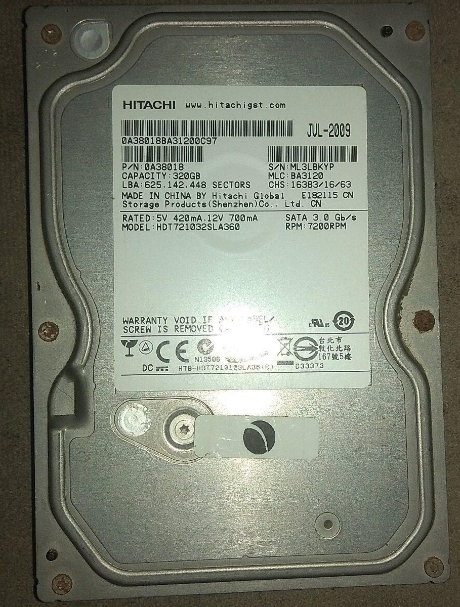 Hd 320gb Hitachi Pc 35 Sata 3 7200rpm 16mb R 6000 Em Mercado Livre Hardisk Carregando Zoom