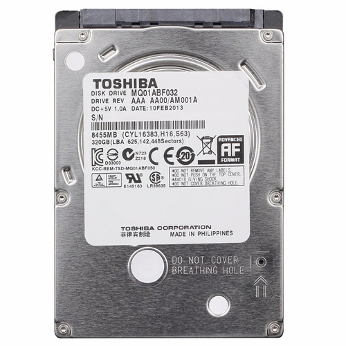 hd 320gb toshiba mq01abf032 notebook 2.5 sata - usado